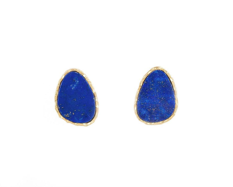 Stud Earrings - Lapis - Christina Greene LLC
