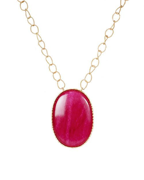 Pendant Necklace - Red Quartz - Christina Greene LLC