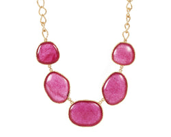 Statement Necklace - Red Quartz - Christina Greene LLC