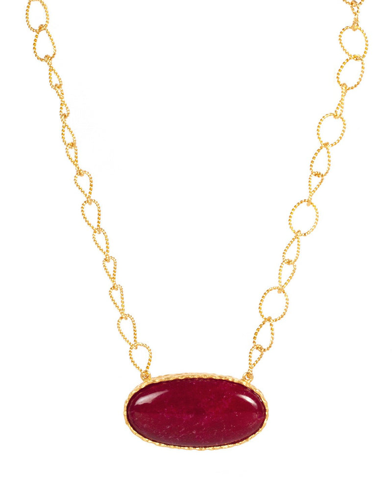 Simple Necklace - Red Quartz - Christina Greene LLC