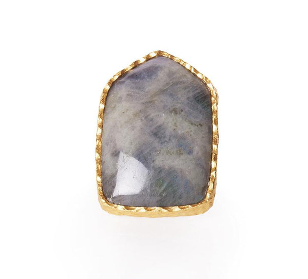 Shield Ring - Labradorite - Christina Greene LLC