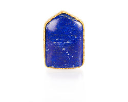 Shield Ring - Lapis - Christina Greene LLC