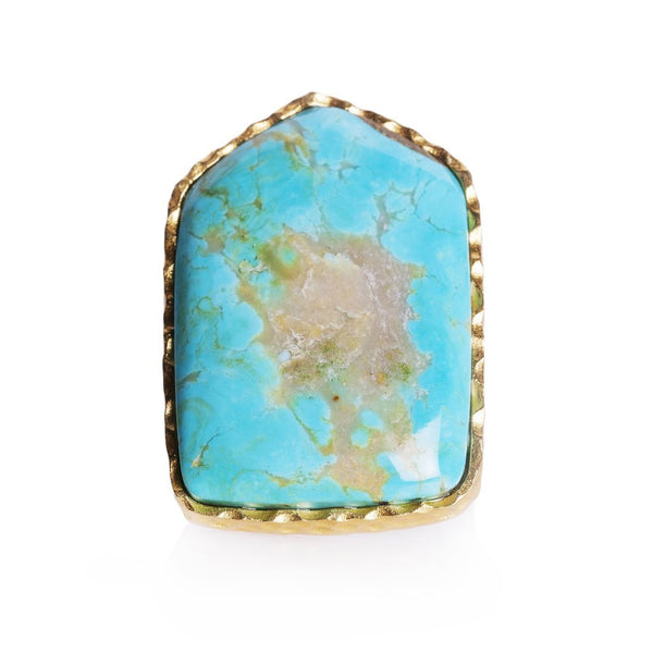 Shield Ring - Turquoise - Christina Greene LLC