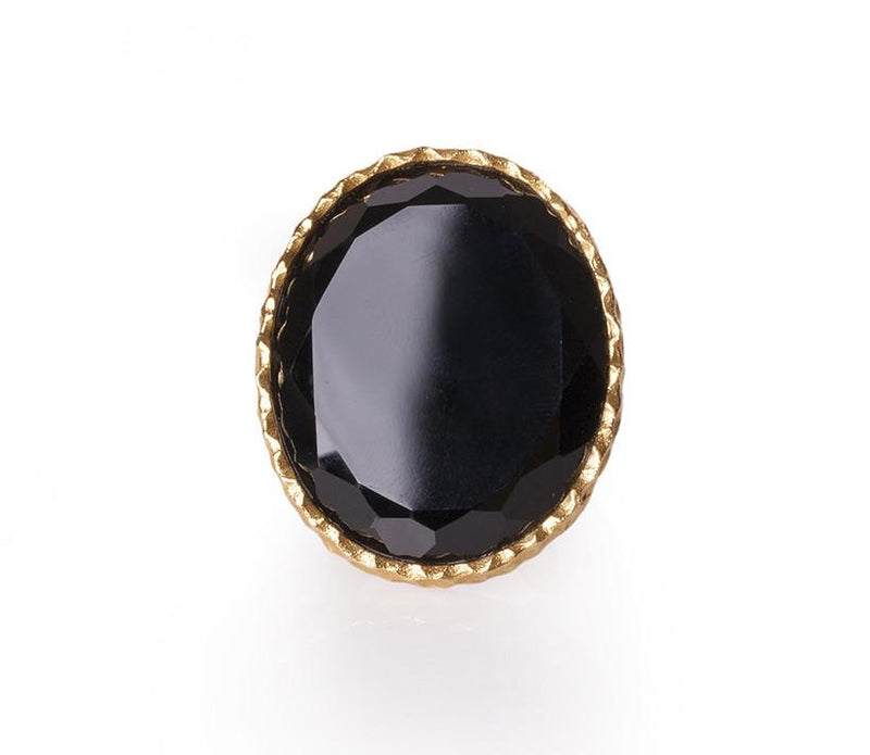 Statement Ring - Black Onyx - Christina Greene LLC