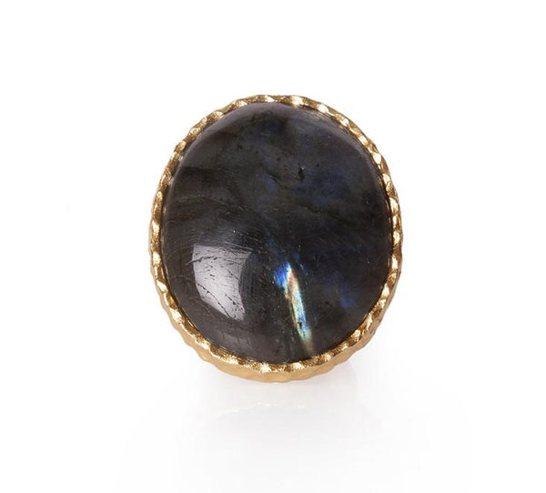 Statement Ring - Labradorite - Christina Greene LLC