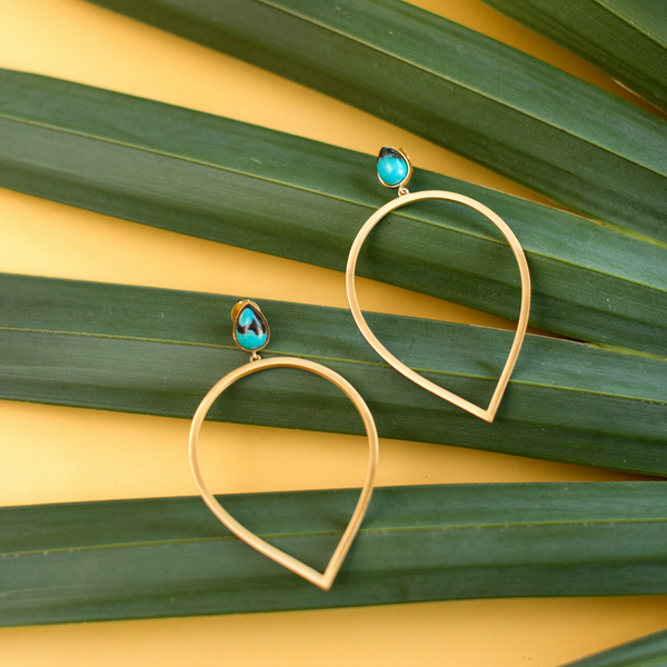 Daybreak Statement Earrings - Turquoise - Christina Greene LLC