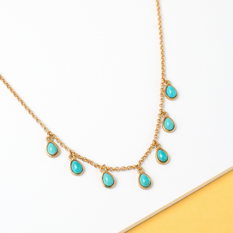 Rise & Shine Collar Necklace - Turquoise - Christina Greene LLC