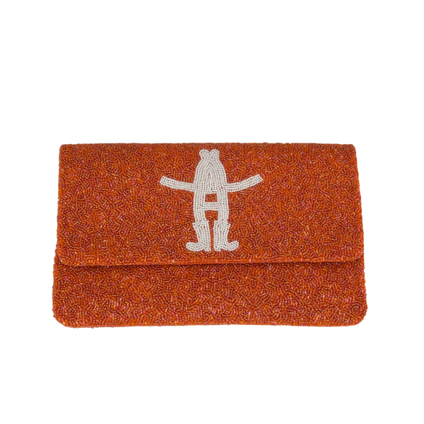 Houston Rodeo Logo Envelope Beaded Clutch - Christina Greene LLC