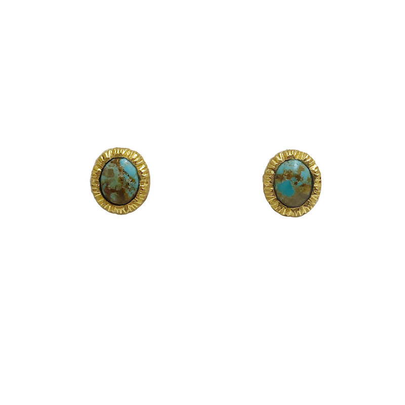 Vicky Stud Earrings - Turquoise