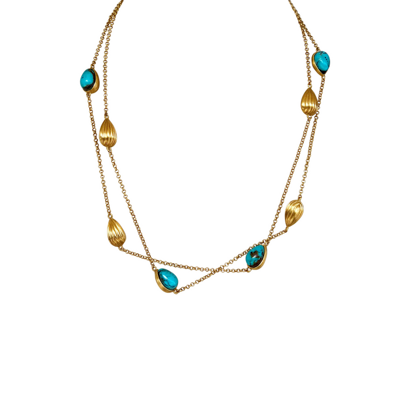 Luxe Layering Necklace - Turquoise - Christina Greene LLC