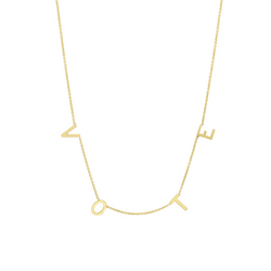 VOTE Gold Letter Necklace