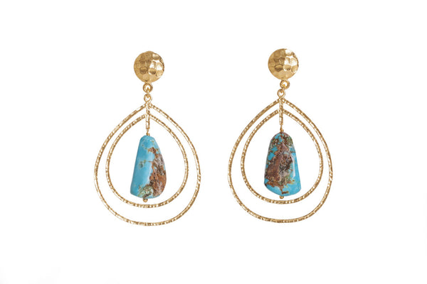 Teardrop Earrings - Turquoise - Christina Greene LLC