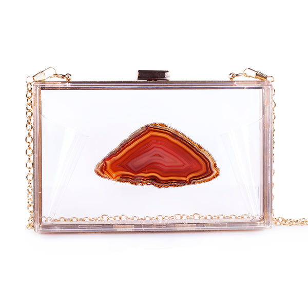 Agate Game Day Clutch - Amber - Christina Greene LLC