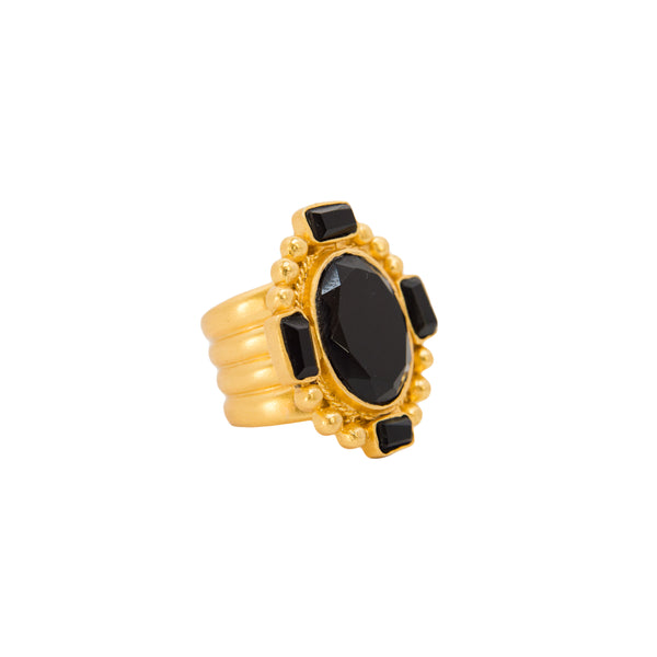 Southwestern Statement Ring - Black Onyx - Christina Greene LLC