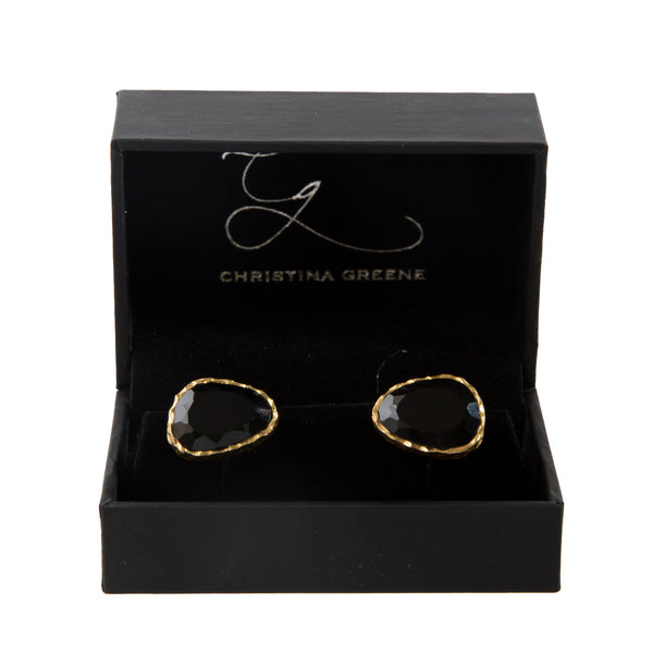 Cufflinks - Black Onyx - Christina Greene LLC