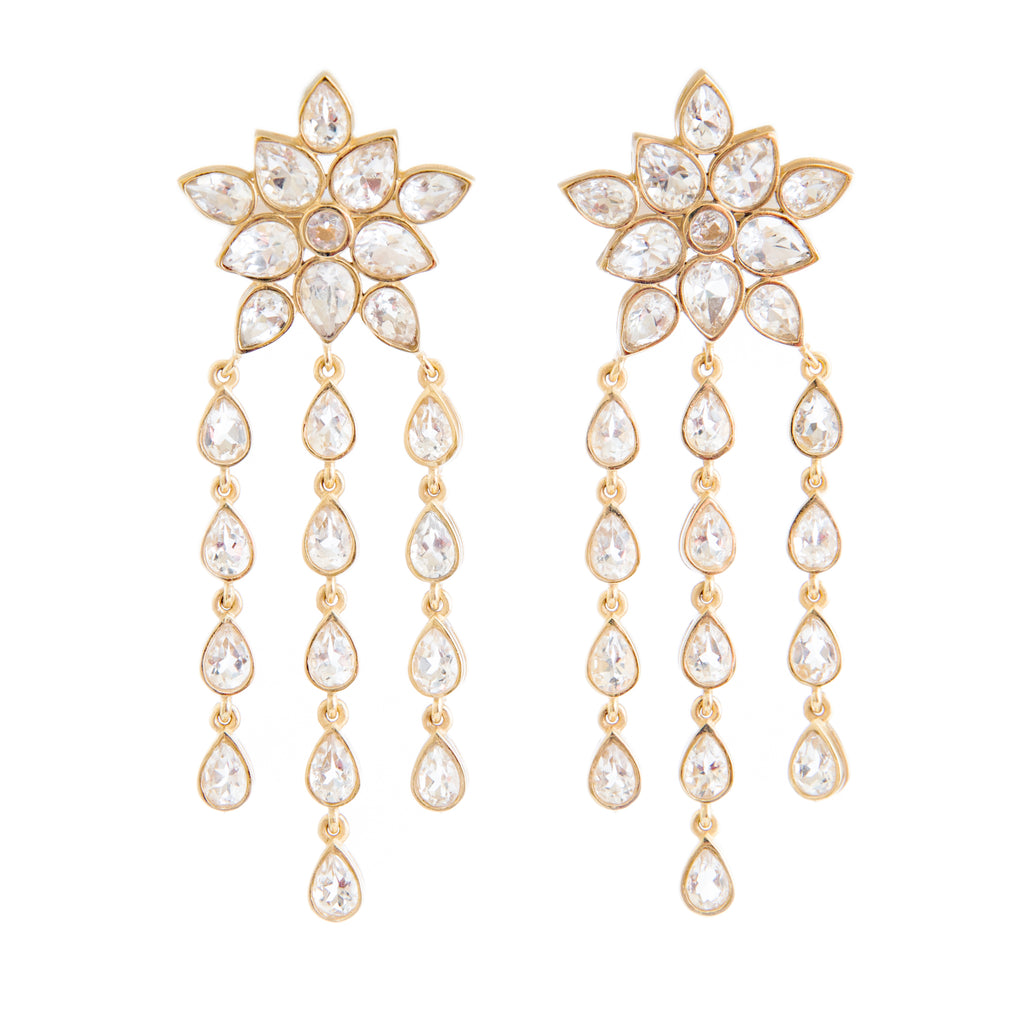Ellie Crystal Earrings - Christina Greene LLC