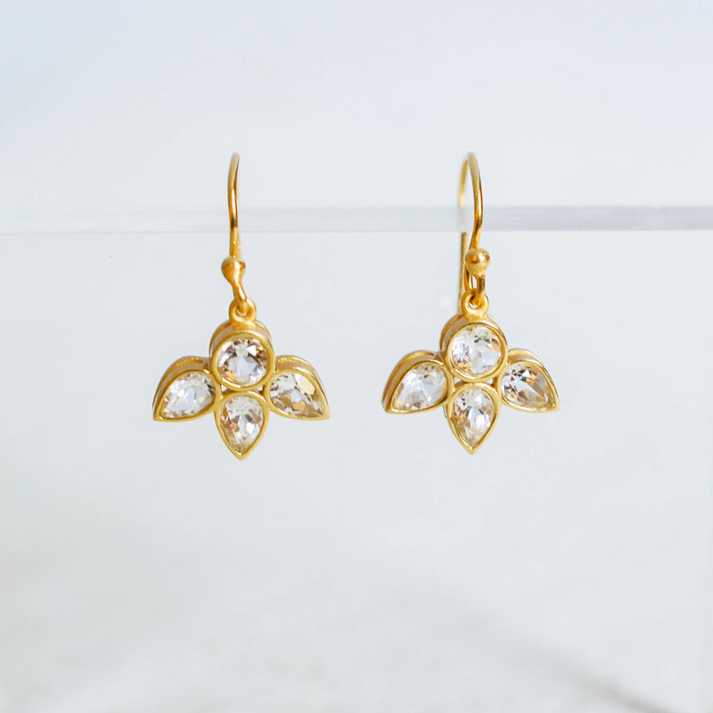 Leslie Crystal Earrings - Christina Greene LLC
