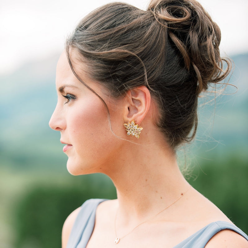 Heather Crystal Earrings - Christina Greene LLC