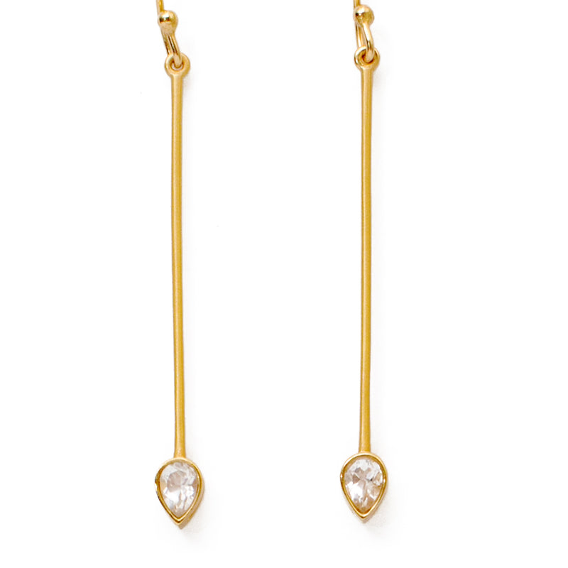 Ariel Crystal Earrings - Christina Greene LLC