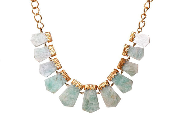 Chunky Necklace - Amazonite - Christina Greene LLC