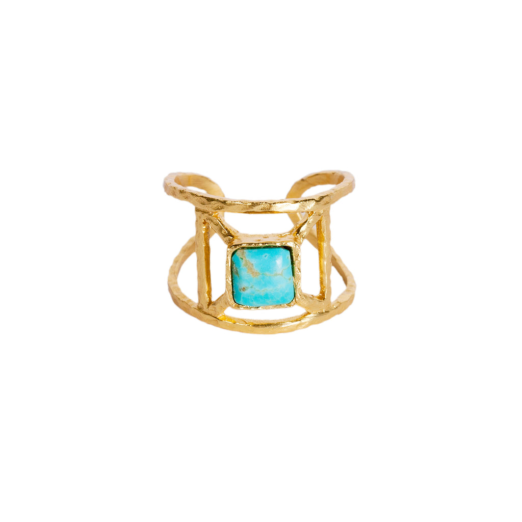 Annix Ring - Turquoise - Christina Greene LLC