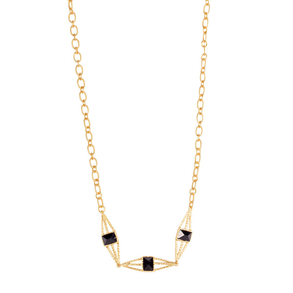 Arixs Necklace - Black Onyx - Christina Greene LLC