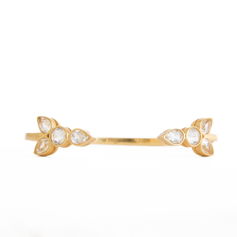 Maggie Crystal Bangle - Christina Greene LLC
