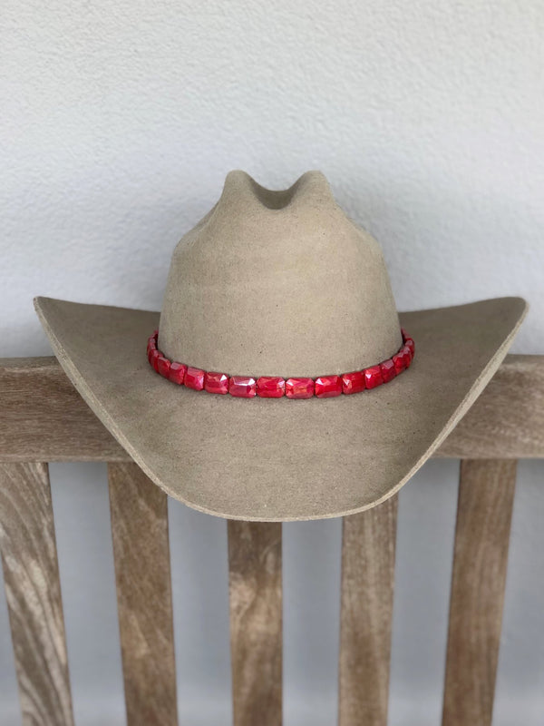 Faceted Cherry Hat band