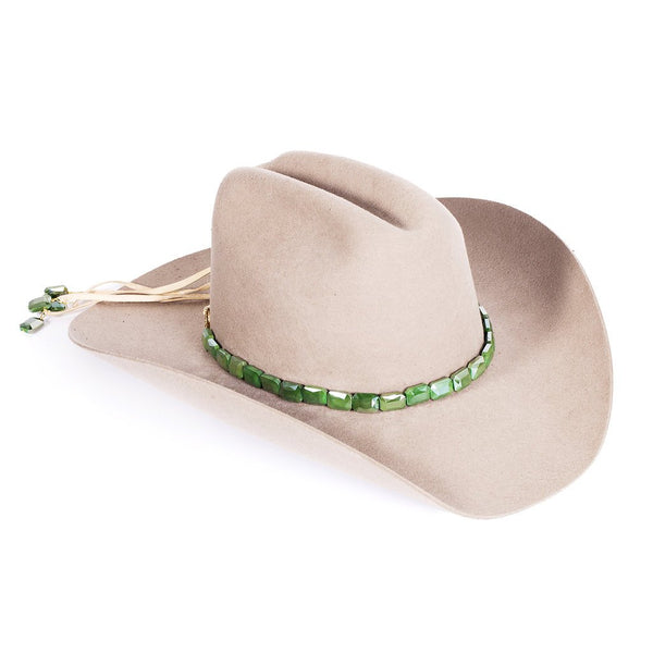 Faceted Emerald Hat Band