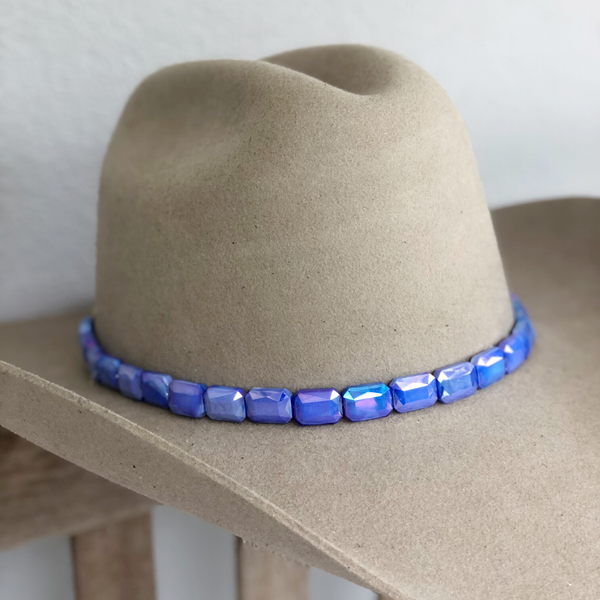 Faceted Periwinkle Hat band