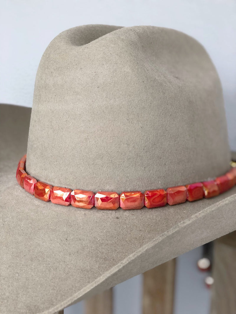 Faceted Sunset Hat band