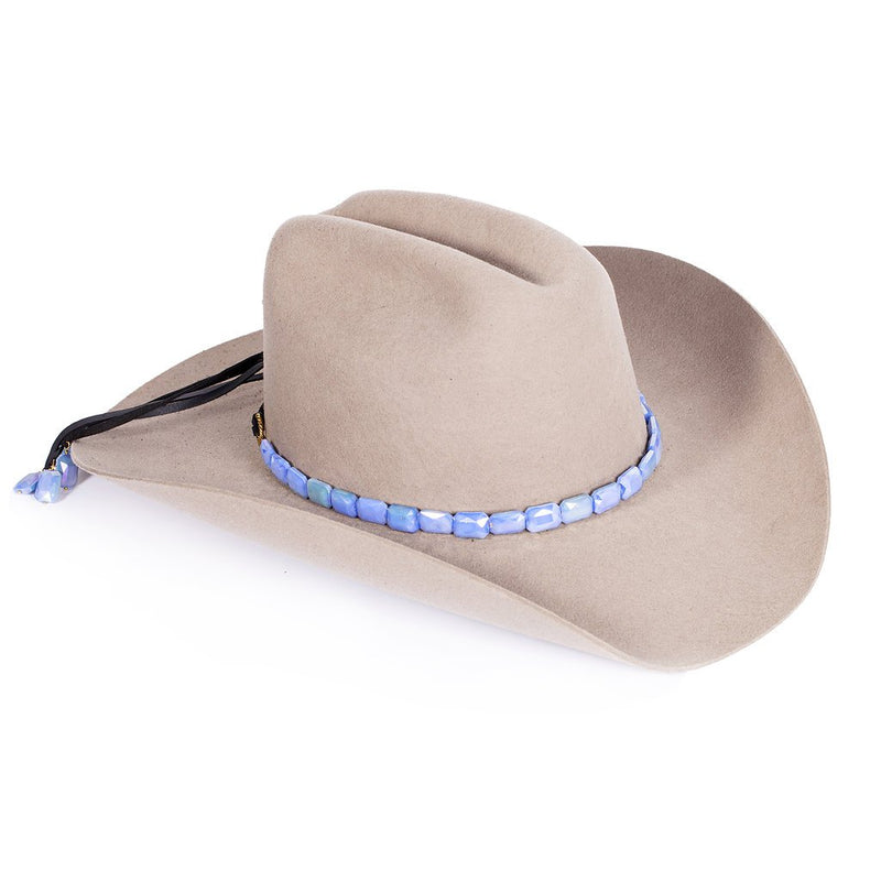 Faceted Steel Hat band