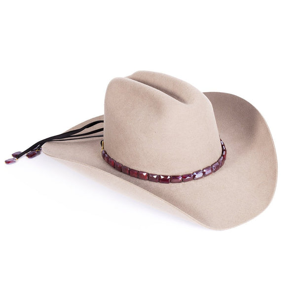 Faceted Walnut Hat band