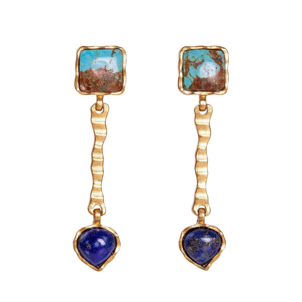 Deco Russes Drop Earring - Christina Greene LLC