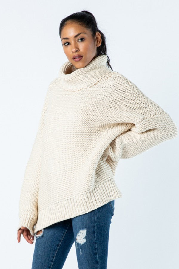 Chunky Knit Sweater - Cream