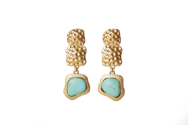 Waterfall Earrings - Turquoise - Christina Greene LLC