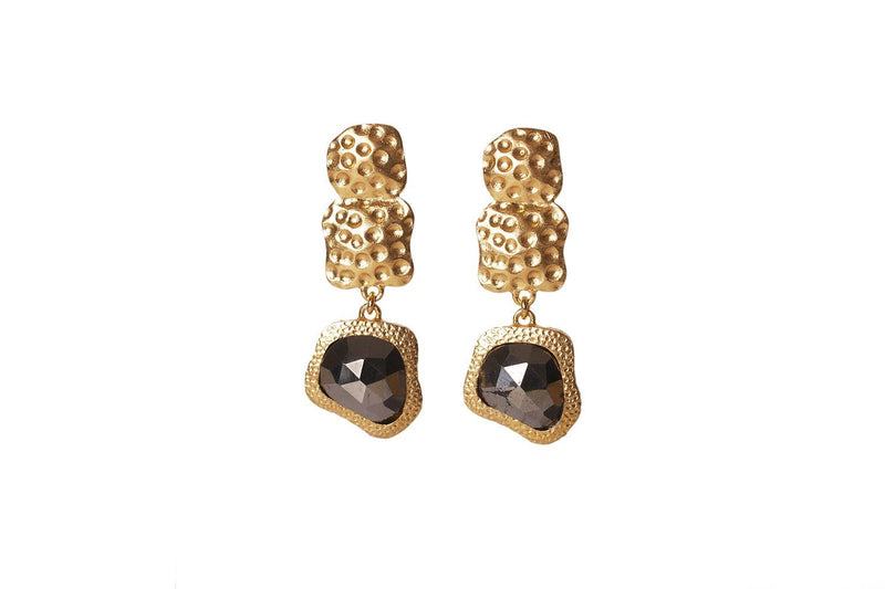 Waterfall Earrings - Pyrite - Christina Greene LLC