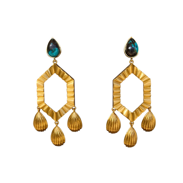 You're a Gem Statement Earrings - Turquoise - Christina Greene LLC