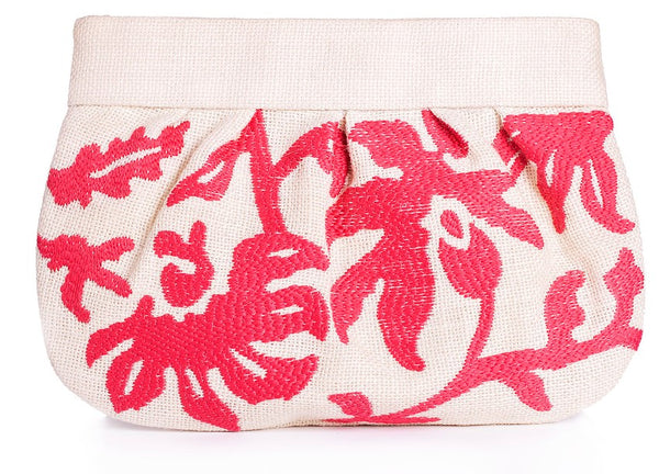 Embroidered Vine Clutch - Christina Greene LLC