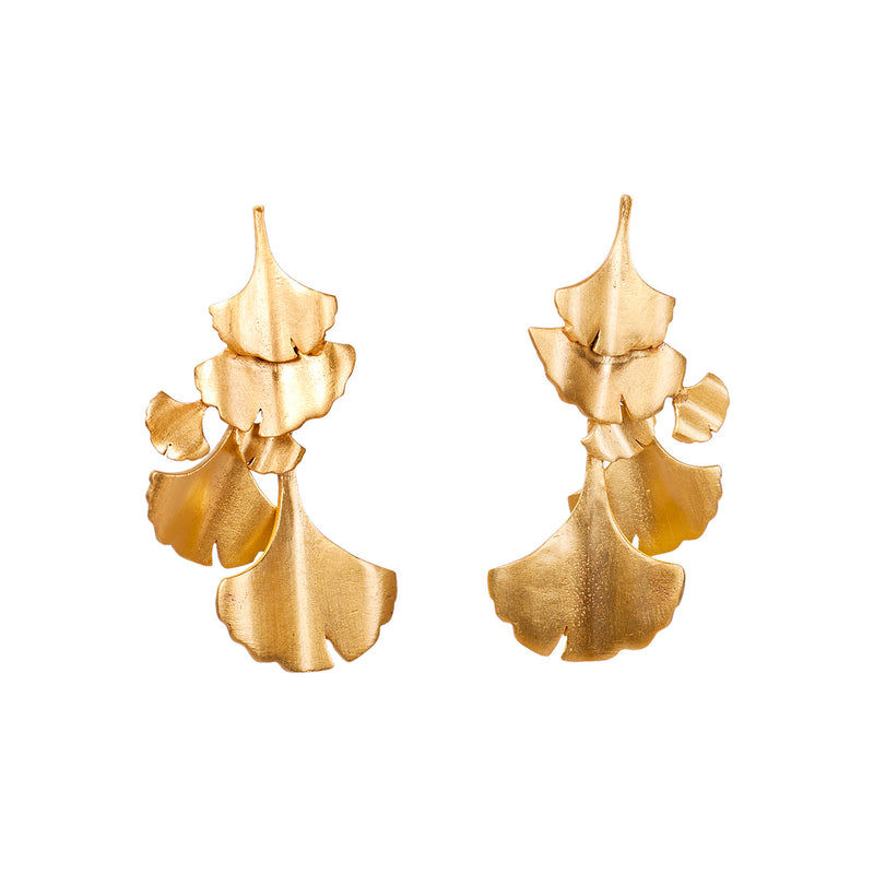 Ginkgo Chandelier Earrings - Christina Greene LLC