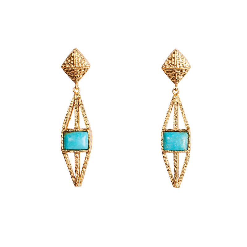 Attis Earrings - Turquoise - Christina Greene LLC