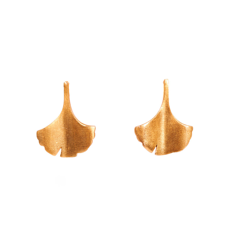 Ginkgo Stud Earrings - Christina Greene LLC