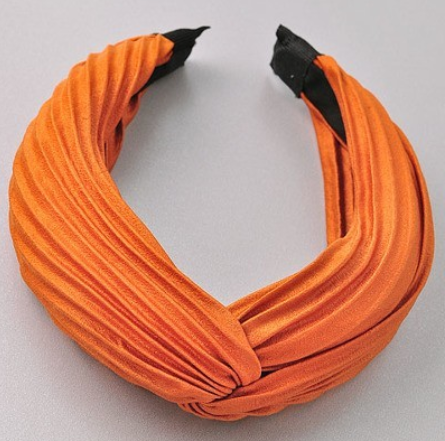 Ribbed Headband - Orange - Christina Greene LLC