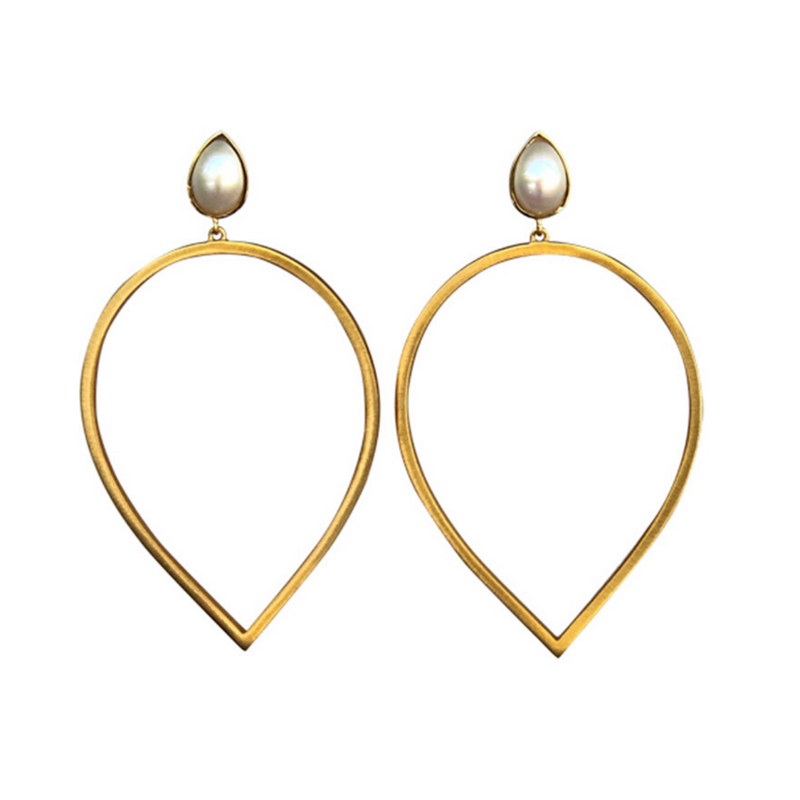 Daybreak Statement Earrings - Pearl - Christina Greene LLC