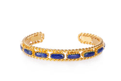 Cable Bangle - Lapis - Christina Greene LLC