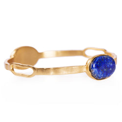Deco Twin Stone Bangle - Lapis - Christina Greene LLC