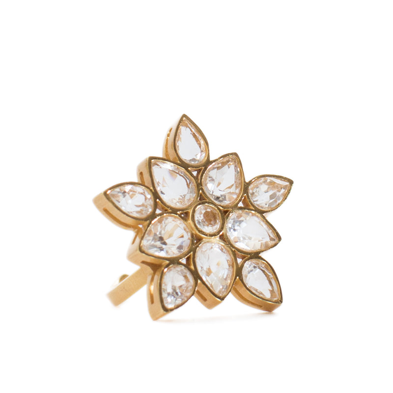 Lauren Crystal Statement Ring - Christina Greene LLC