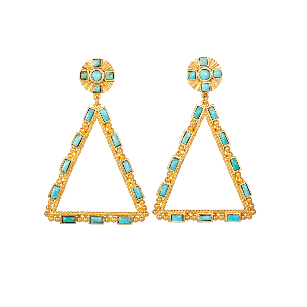 Large Southwestern Chandelier Earrings - Christina Greene LLC