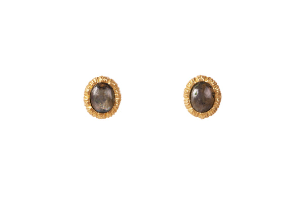 Vicky Stud Earrings - Labradorite - Christina Greene LLC