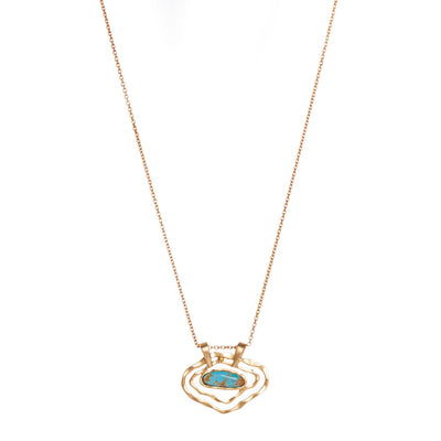 Deco Impression Necklace - Turquoise